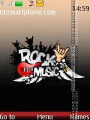 Rock Music Mp3 tema screenshot