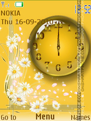 Golden Clock 03 theme screenshot
