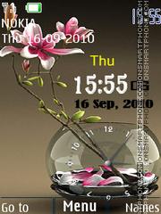 Flower Dual Clock theme screenshot