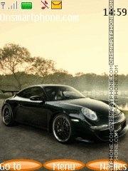 Black Porsche theme screenshot