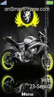 Sliver Bike es el tema de pantalla