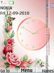 Flower Clock 03 theme screenshot
