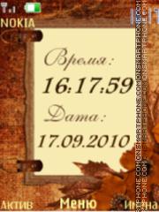 Autumn clock $ date es el tema de pantalla