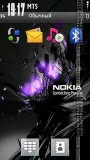 Nokia Blast Purpel theme screenshot