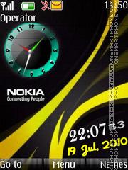 1nokia clock theme screenshot