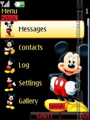 Mickey Clock theme screenshot