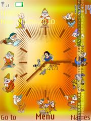Snow White and the Seven Dwarfs SWF Clock tema screenshot