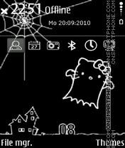 Hello kitty sketch es el tema de pantalla