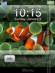 I Phone Clock es el tema de pantalla
