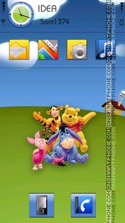 Pooh Friends theme screenshot