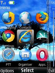 Browser Icons es el tema de pantalla