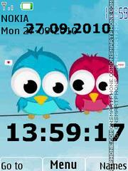 Birds Clock 01 theme screenshot