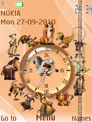 Ice Age SWF Clock es el tema de pantalla