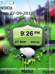 Golf Clock theme screenshot