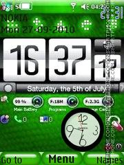 Htc Nokia Clock es el tema de pantalla