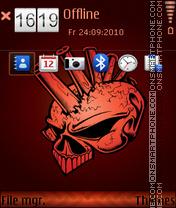 Punk skull 01 es el tema de pantalla