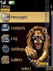 Lion Clock theme screenshot