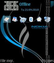 Nokia xpress music 09 theme screenshot