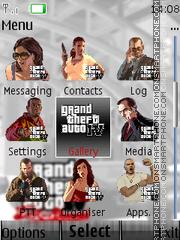 Gta 4 Icons N Clock es el tema de pantalla