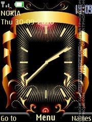 Black and Gold Clock theme screenshot