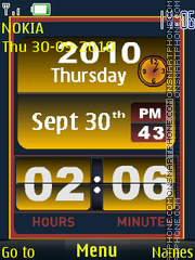 Flip Clock theme screenshot