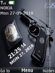 Gun Clock 02 theme screenshot