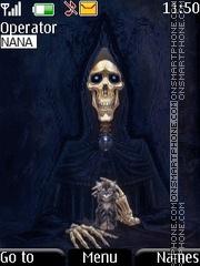 Scary Skeleton theme screenshot
