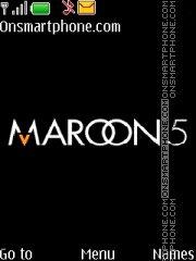 Maroon 5 theme screenshot