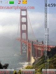 Golden gate bridge theme screenshot
