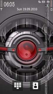 Yin And Yang Techno theme screenshot
