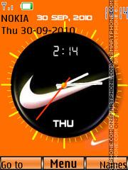 Nike Dual Clock 01 theme screenshot