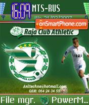 Raja Club Athletic Morocco theme screenshot