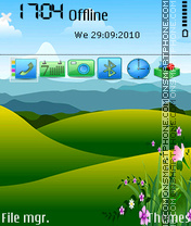 Spring mountain es el tema de pantalla