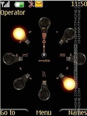 Animated bulb clock theme screenshot