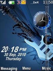 Guitar clock es el tema de pantalla