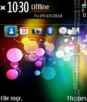 Colourful ovi theme screenshot
