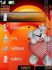 Teddy Clock theme screenshot