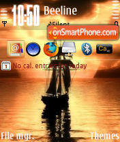 Sailing QVGA es el tema de pantalla