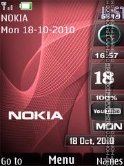 Nokia Red Waves es el tema de pantalla