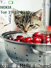 Kitten Clock theme screenshot