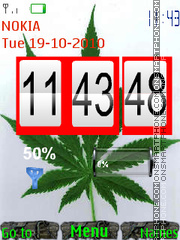Cannabis Clock theme screenshot
