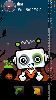 Halloween Cube v5 theme screenshot