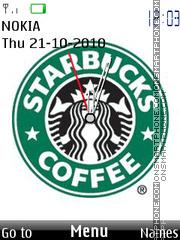 Starbucks Clock es el tema de pantalla