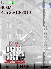 Gta 4 Icons N Clock theme screenshot