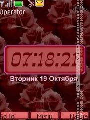 Red pattern theme screenshot