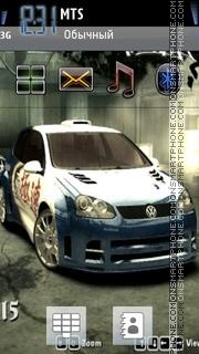 Nfs Mw VW Golf theme screenshot