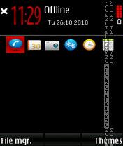 Red explosion 01 theme screenshot