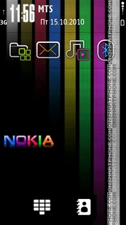 Colours Nokia 01 theme screenshot