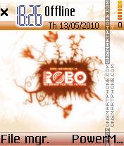 Robo theme es el tema de pantalla