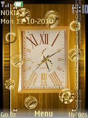 Golden Clock 05 theme screenshot